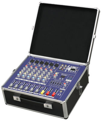 China Mezclador audio profesional portátil robusto con Fightcase PM600USB distribuidor